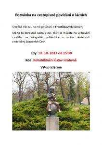Povídání o lázních, Polínková, 10. 10. 2017