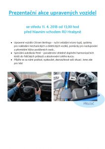 Prezentační akce upravených vozidel - leták Hrabyně - 2018